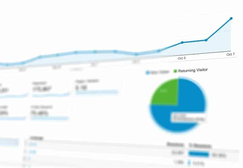SEO analytics chart data